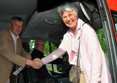 Erste Linienfahrt, erster Fahrgast, 21. Mai 2012