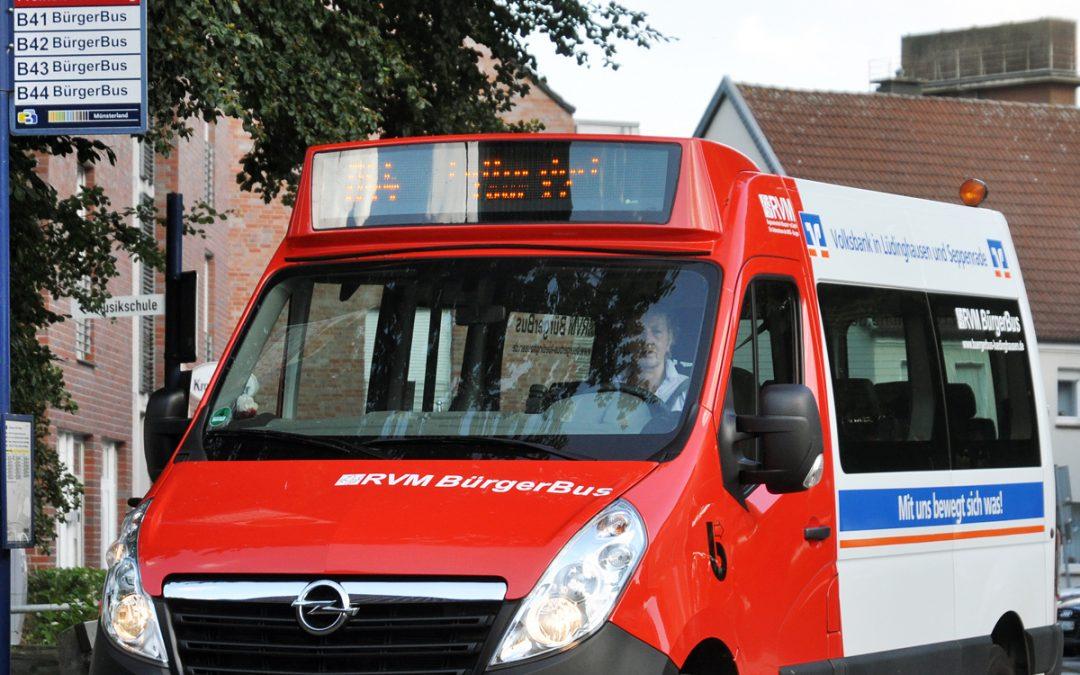 Bürgerbus: Über den Kanalseitenweg ins Rosendorf